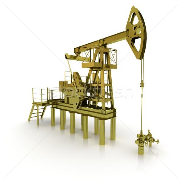 Golden Machine Oil Pump Stock photo © cherezoff