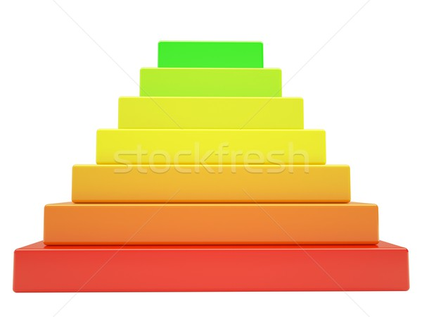 Pyramid of colored cubes Stock photo © cherezoff