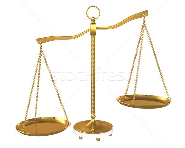 Arany nyaláb egyensúly izolált fehér üzlet Stock fotó © cherezoff