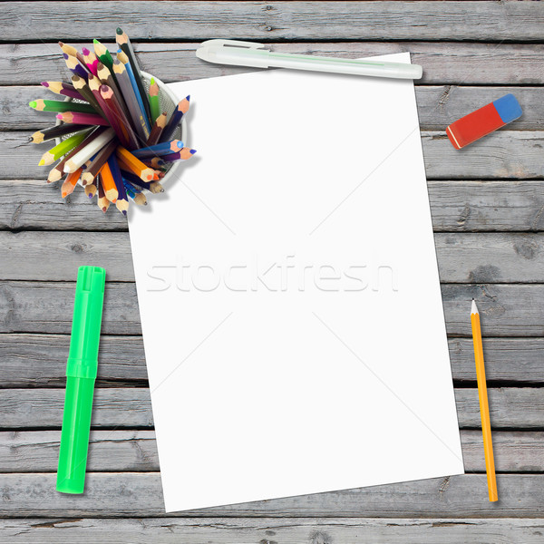 лежать пусто бумаги лист канцтовары Сток-фото © cherezoff