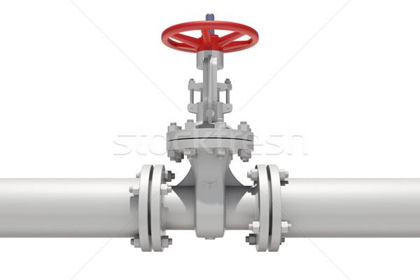 Model ventiel pijp geïsoleerd witte metaal Stockfoto © cherezoff
