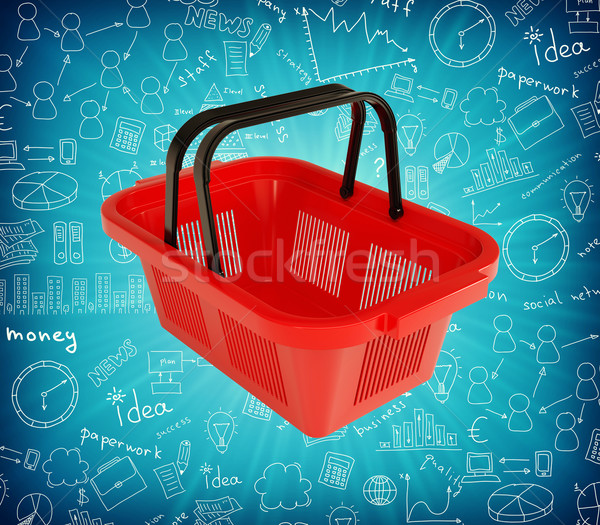 Red shopping basket Stock photo © cherezoff