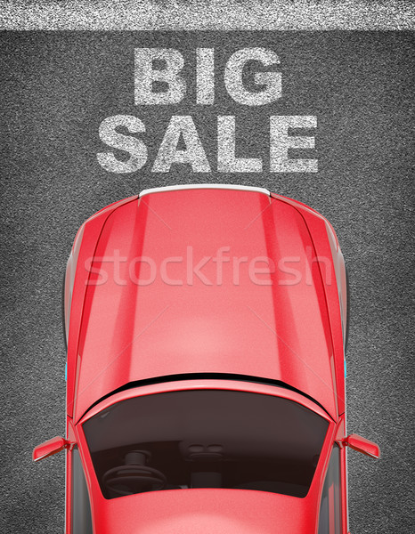 Car on grey texture background Stock photo © cherezoff