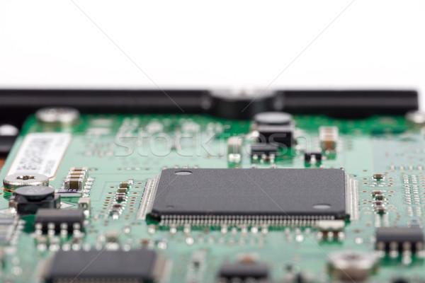Elektronische circuit board bewerker geïsoleerd witte technologie Stockfoto © cherezoff
