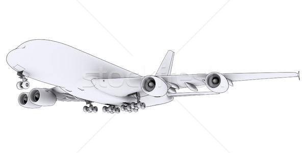 Grande branco avião isolado tornar linhas Foto stock © cherezoff