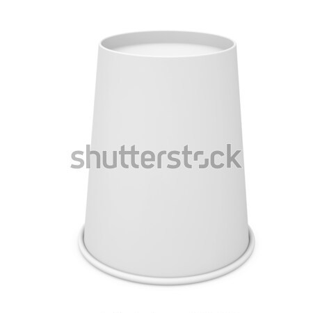 Inverted white paper cup Stock photo © cherezoff