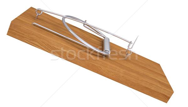Isolado tornar branco negócio primavera madeira Foto stock © cherezoff