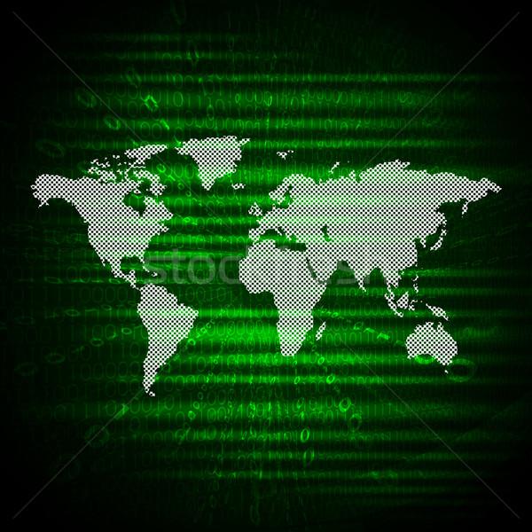 Izzó világtérkép absztrakt világ technológia űr Stock fotó © cherezoff