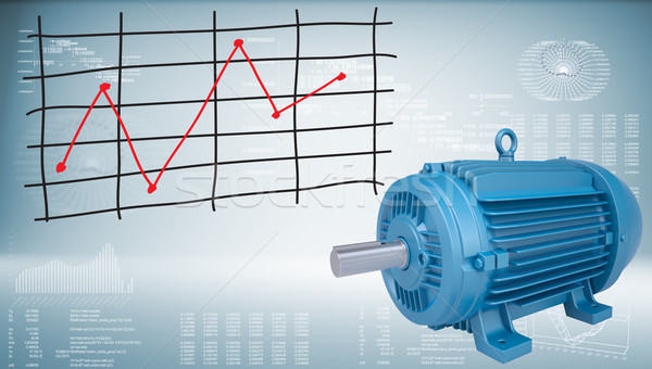 Electromotor and graph of price changes Stock photo © cherezoff