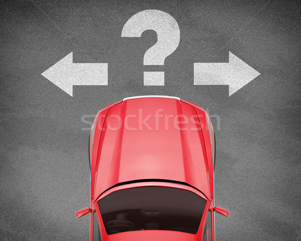 Car on grey texture background with signs Stock photo © cherezoff