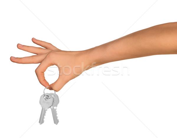 Humans hand with keys Stock photo © cherezoff
