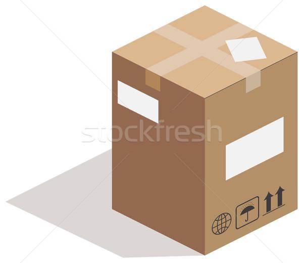Carton box on white Stock photo © cherezoff
