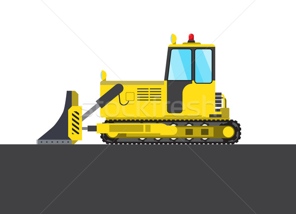 Colorful steam roller picture Stock photo © cherezoff