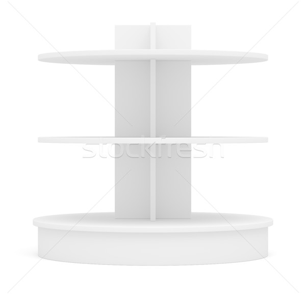 Empty shelves for products on white background Stock photo © cherezoff