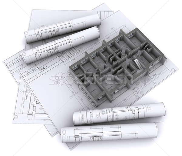 built walls of a house Stock photo © cherezoff