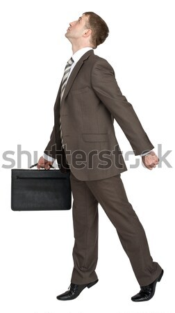 Man sitting on empty space Stock photo © cherezoff