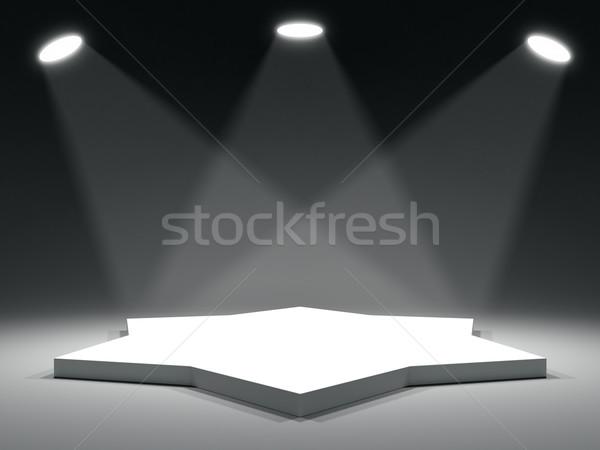 Star shape stage Stock photo © cherezoff