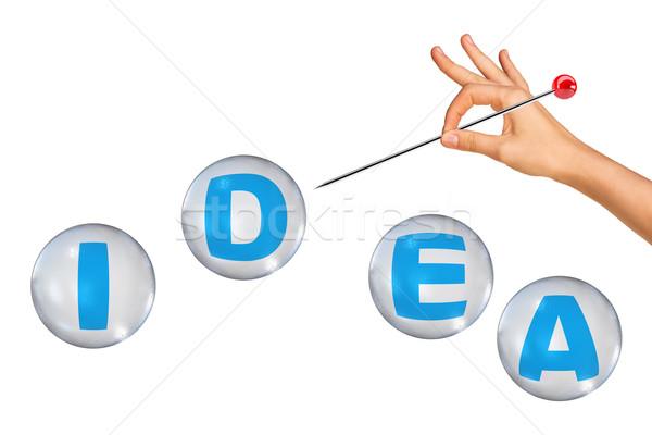 Word idea in bubbles Stock photo © cherezoff