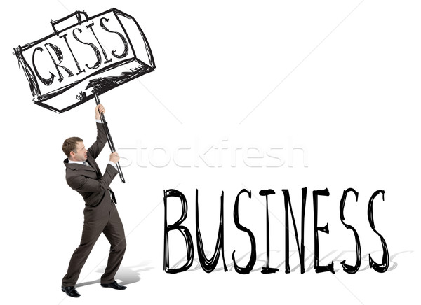 Crisis hit business Stock photo © cherezoff