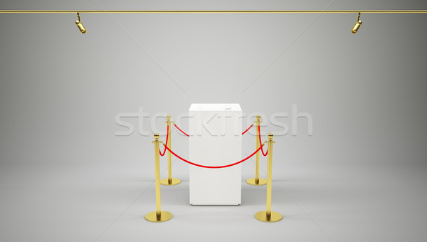 Barrier rope and box on gray Stock photo © cherezoff