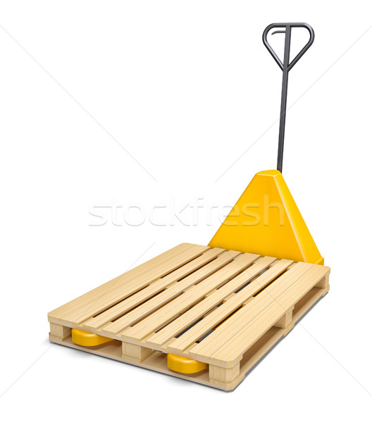 Pallet truck isolated on white Stock photo © cherezoff