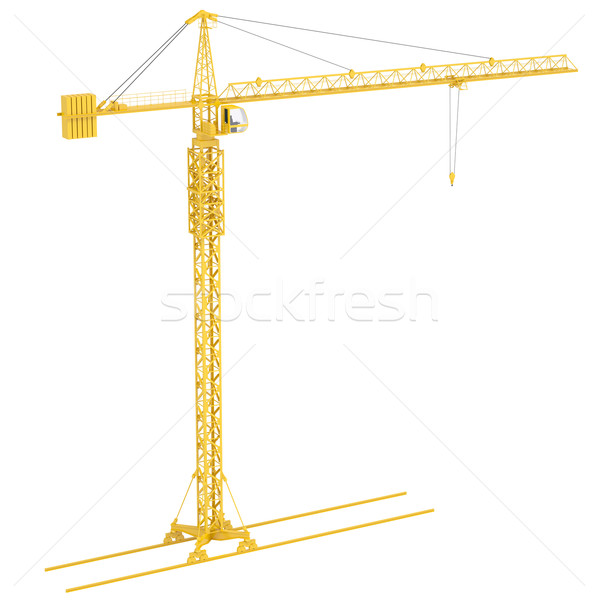 Yellow tower crane Stock photo © cherezoff