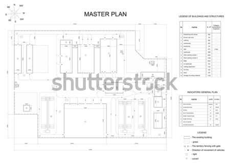 Expanded shaft sketch with chamfers and hatching Stock photo © cherezoff