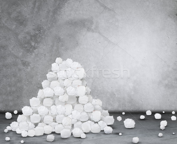 Pile of crumpled paper balls Stock photo © cherezoff
