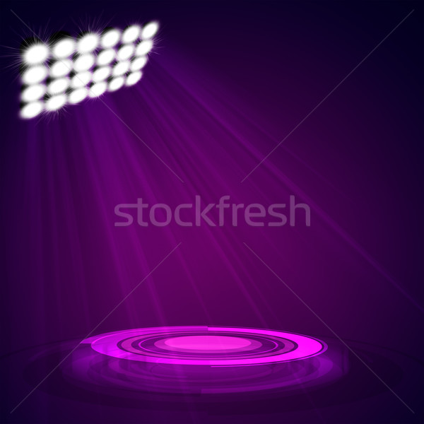 Interior shined with projector Stock photo © cherezoff