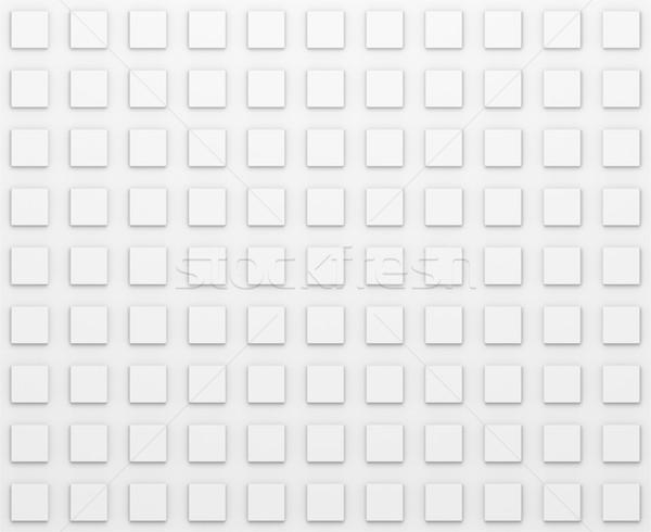 Dikdörtgen model düzenli beyaz doku 3d illustration Stok fotoğraf © cherezoff