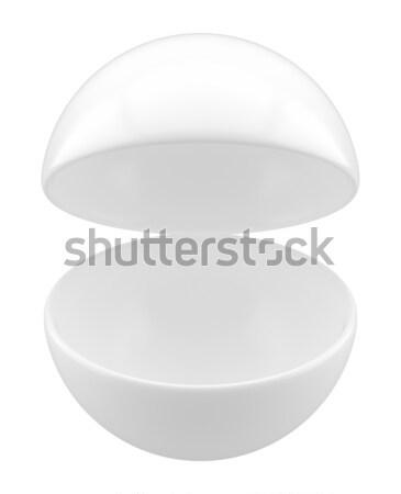 Abierto esfera poi vacío stand publicidad Foto stock © cherezoff
