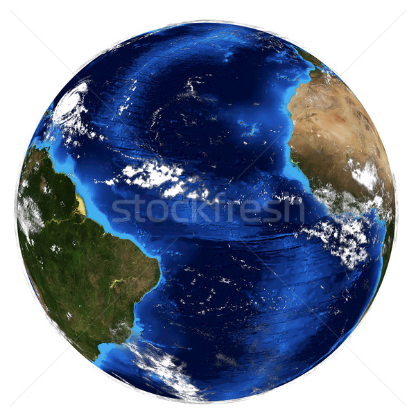 Terra elementi immagine mappa mare mondo Foto d'archivio © cherezoff