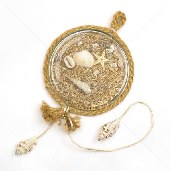 сувенир стекла песок ракушки изолированный белый Сток-фото © cherezoff
