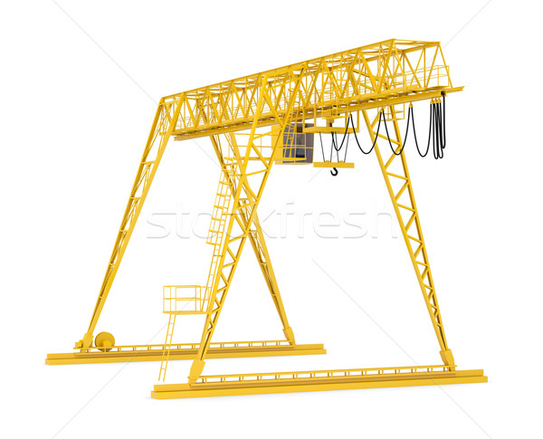 Yellow gantry bridge crane, half-turn Stock photo © cherezoff