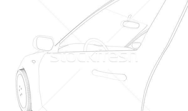 Graphic car model Stock photo © cherezoff