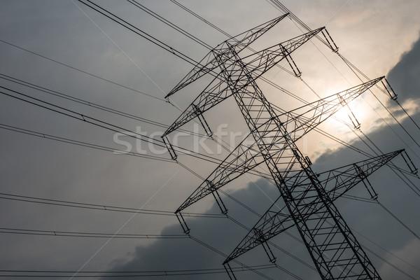 Elettrici sole grigio cielo Foto d'archivio © cherezoff