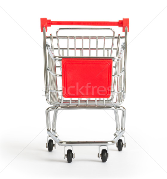 Bevásárlókocsi fehér elöl kilátás izolált Stock fotó © cherezoff
