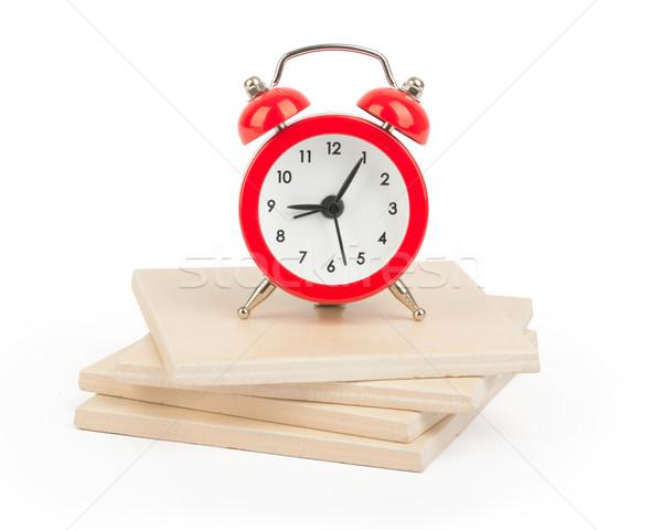 Alarm clock on paving tiles Stock photo © cherezoff