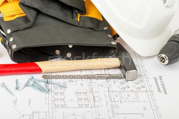 Hammer with tool belt Stock photo © cherezoff