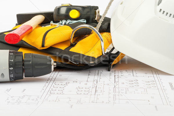 Electric screwdriver with tool belt Stock photo © cherezoff
