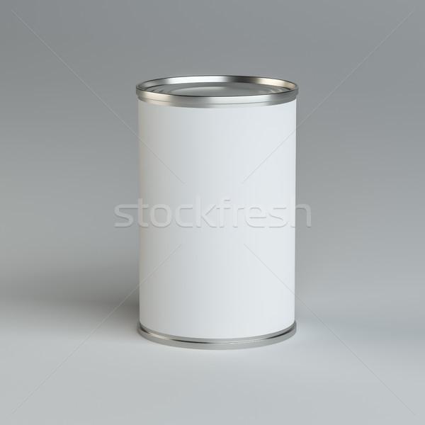 Close-up white tin can Stock photo © cherezoff