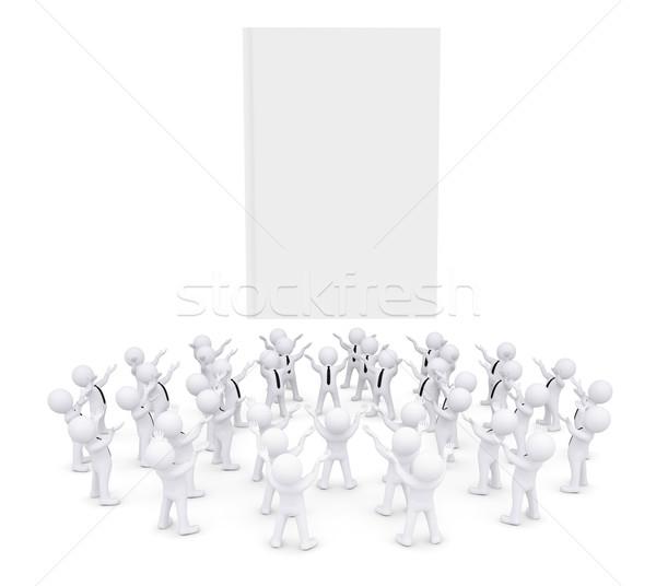 Group of white people worshiping book Stock photo © cherezoff