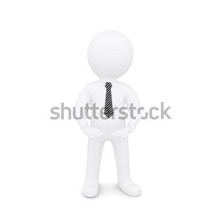 Fehér férfi nyújtott ki üres kezek izolált Stock fotó © cherezoff