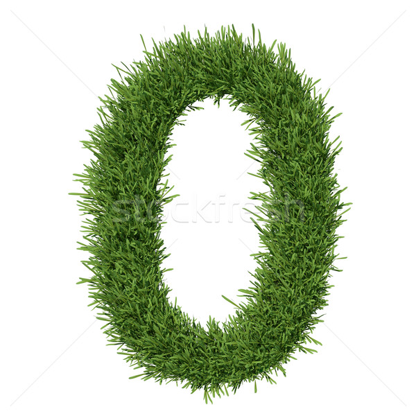 Arabic numeral made ​​of grass Stock photo © cherezoff