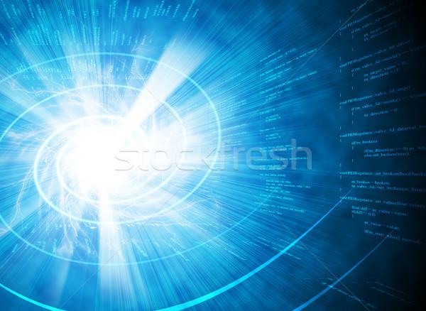 Graphics and glowing spiral Stock photo © cherezoff