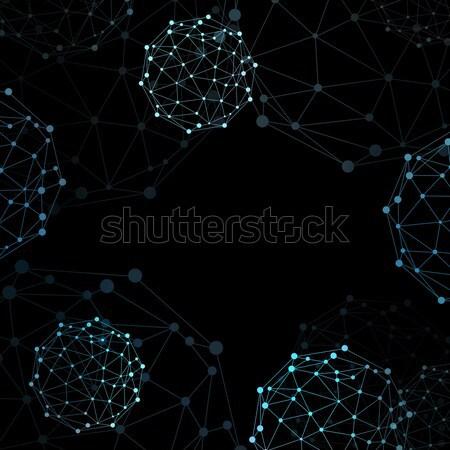Wire frame sphere. Network concept Stock photo © cherezoff