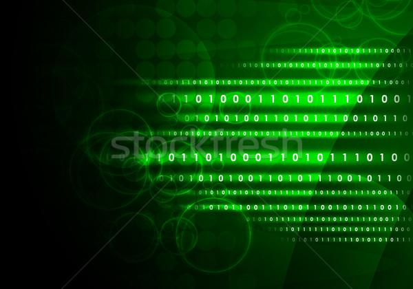 サークル 抽象的な 技術 情報 データ ストックフォト © cherezoff