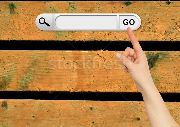 Mão humana pesquisar bar navegador Foto stock © cherezoff