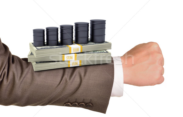 Businessmans arm with money Stock photo © cherezoff