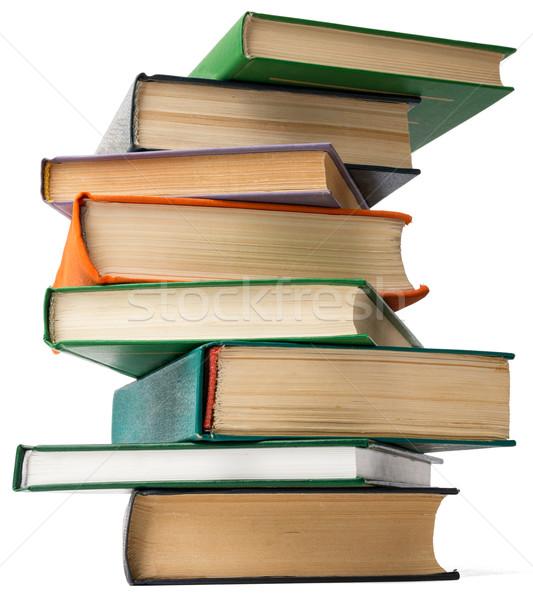 Сток-фото: башни · книгах · изолированный · белый · книга · школы